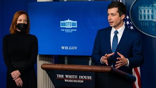Buttigieg joins Psaki at White House news conference - 4/9 (FULL LIVE STREAM)
