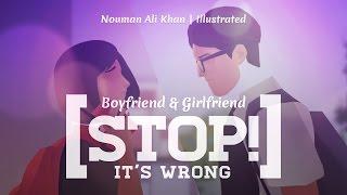 Boyfriend & Girlfriend, Stop! It's Wrong | Ustadh Nouman Ali Khan | illustrated