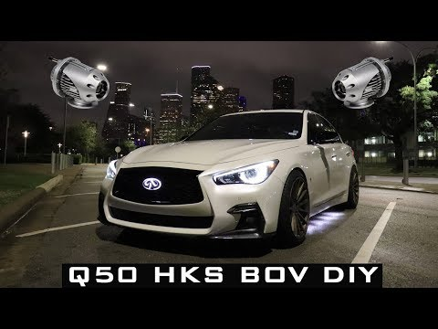 Infiniti Q50 Red Sport 3.0T HKS Blow Off Valve DIY