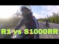 YZF-R1 vs BMW S1000RR/ GSXR-1000