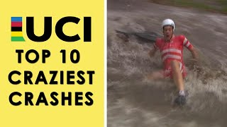 UCI Road Cycling World Championships 2019: Top 10 Craziest Crashes | NBC Sports
