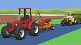 The Tractor Story For Kids - Potaoes Digging | Farm Work