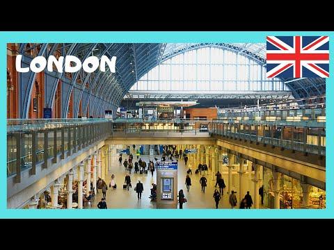 LONDON: The EUROSTAR, the Champagne Bar and St Pancras International train station