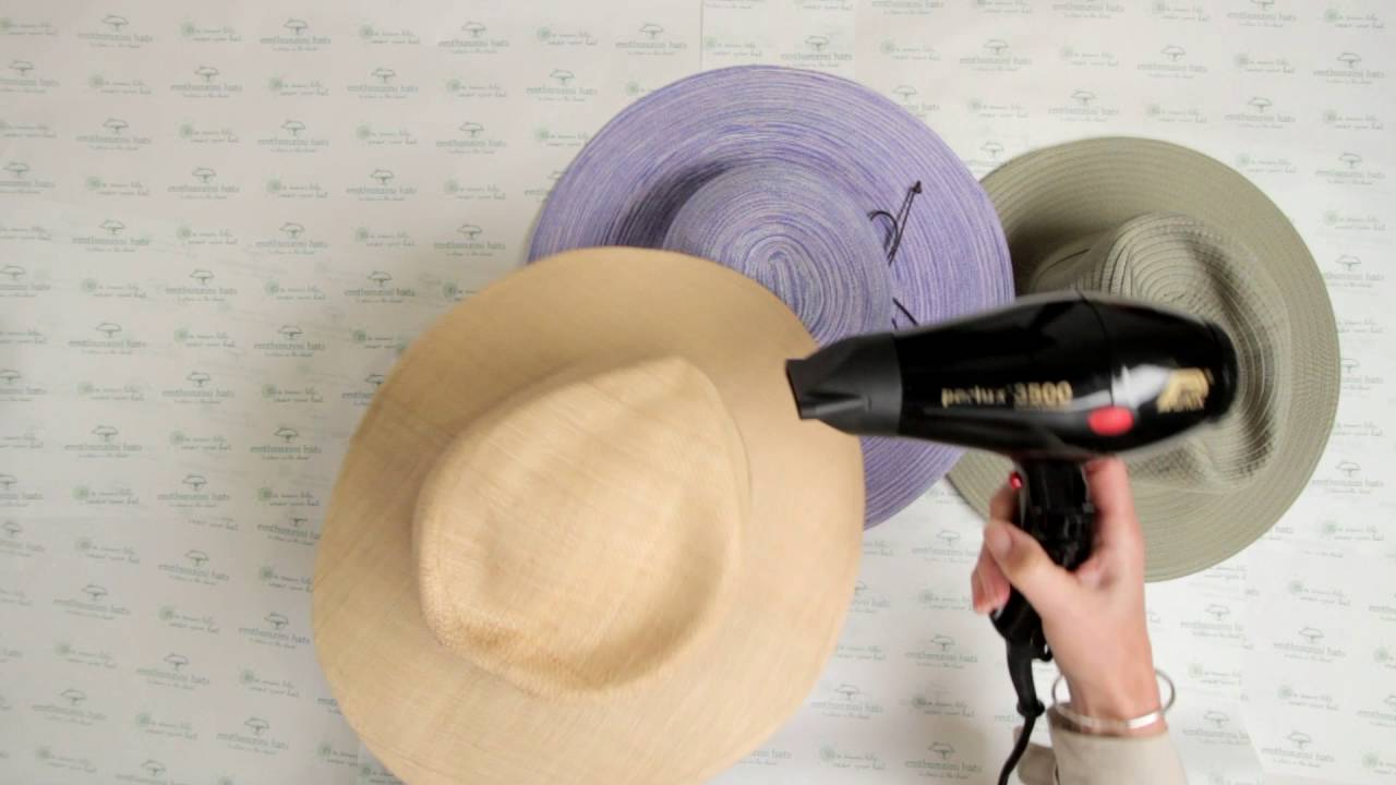 Travel Tip  How to Reshape your Sun Hats - YouTube 64757e65ad2