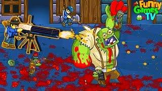 - ОГРОМНЫЙ БОСС мульт игра про зомби приключения ВИДЕО для детей про ЗОМБИ GIBS от FGTV