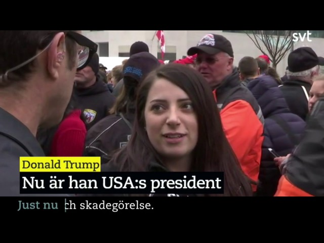 Swedish Reporter Totally Shames Himself During Donald Trumps Inauguration