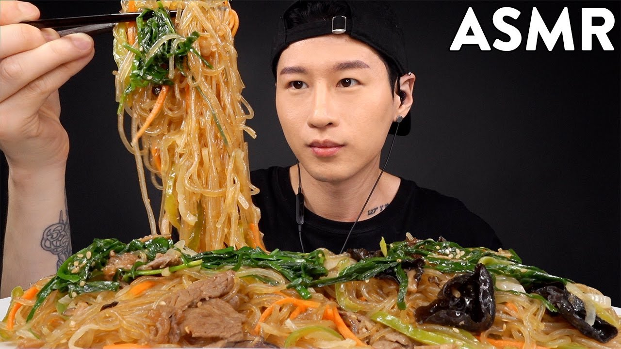 Asmr 2Lbs Korean Glass Noodles Japchae Mukbang Whispering Eating Sounds Zach Choi Asmr