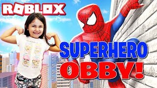 How To Play Roblox!! Super Heros In Real Life Obby!
