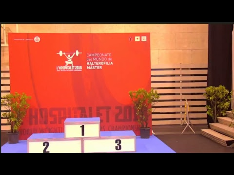 TUESDAY 19:00 S23 W45 2018 IWF MASTERS WORLD WEIGHTLIFTING CHAMPIONSHIP