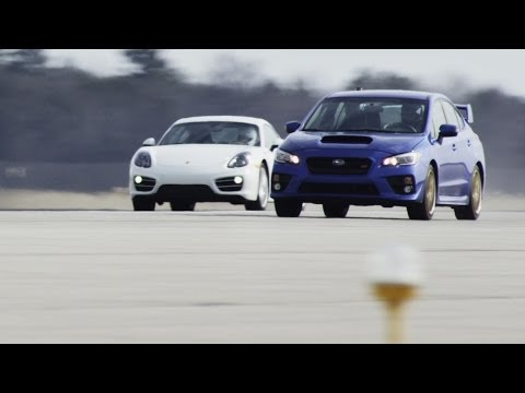 2015 Subaru WRX STI vs. 2014 Porsche Cayman   STANDING MILE