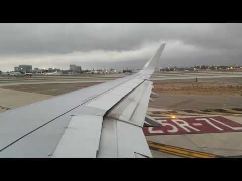 American Airlines A321 Pushback, Taxi And Takeoff From Los Angeles
