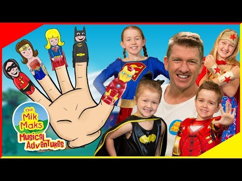 Sing-a-long Finger Family With Superheros | Live Nursery Rhymes | The Mik Maks