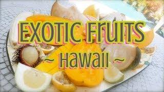 Exotic Fruits Of Hawaii - Abiu, Surinam Cherry, Velvet Apple, Longan, Sweetsop, Peanut Butter Fruit!