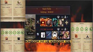 Clash Of Kings - K141 vs K105 - The ComeBack