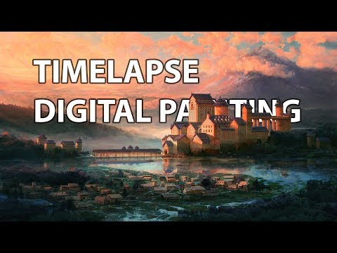 Timelapse Digital Painting – Far Far Away  | enviro landscape concept art illustration speedpainting