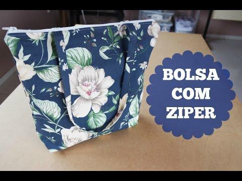 619977aaf Costurando: Bolsa com zíper simples - YouTube