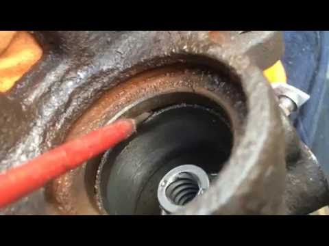 Replacing rear brake caliper seals