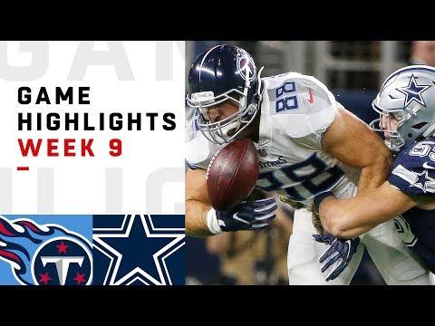 download Titans vs. Cowboys Week 9 Highlights | NFL 2018