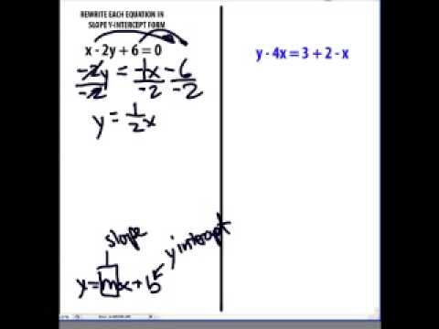 Solving Equations By Rewriting In Slope Y Intercept Form Youtube