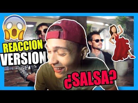 Maluma - Felices los 4 (Salsa Version)[Official Video] ft. Marc Anthony (REACCION)