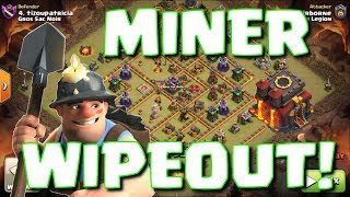 WIPE MAX TH10 BASES WITH THIS MINER COMBO - BASE SELECTION TOO | Mister Clash