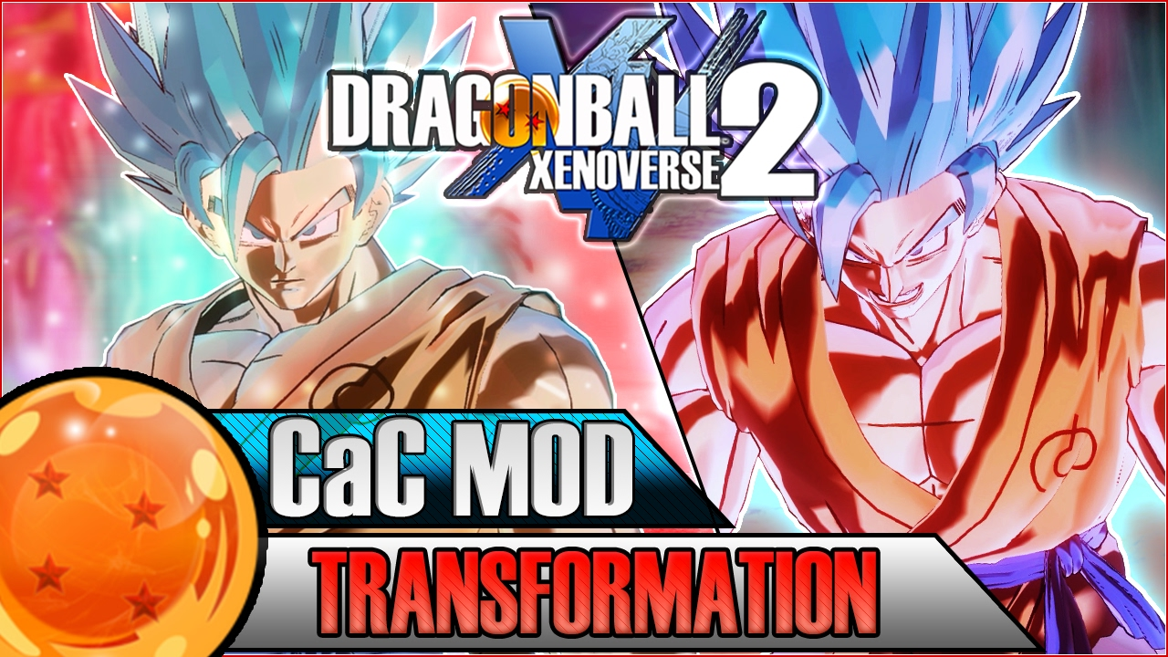 SUPER SAIYAN BLUE KAIOKEN CAC TRANSFORMATION | Dragon Ball