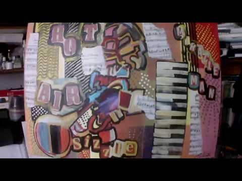 Trumpet musical jazz abstract painting