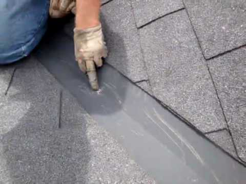 Roof Repair Leak In Valley Cracked Valley Youtube
