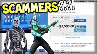 Acheter le compte Fortnite le plus cher / Skins?! Ne le faites pas! Fortnite Scammers Exposés ...