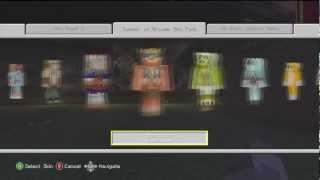 Minecraft XBOX 360: FREE EXTRA CUSTOM SKINS - NEW
