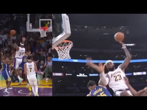 IMPOSSIBLE LEBRON JAMES DIME TO DANNY GREEN 😲😲😲 #Lakers