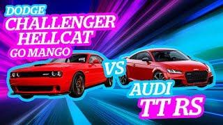 Audi TT RS vs Challenger Hellcat ¿Quién ganará en un arrancón?