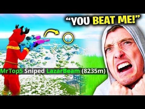 I BROKE LazarBeam's World Record In Fortnite