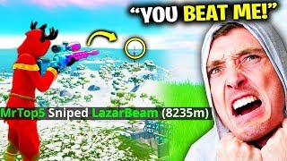I BROKE LazarBeam's World Record In Fortnite