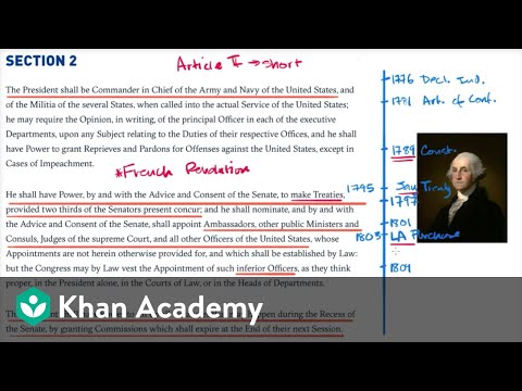 Presidential precedents of George Washington | US government and civics | Khan Academy