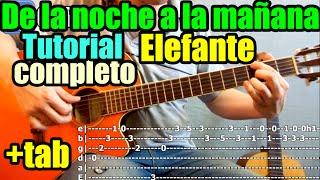 "Como tocar ""DE LA NOCHE A LA MAÑANA"" de ELEFANTE en guitarra acústica"