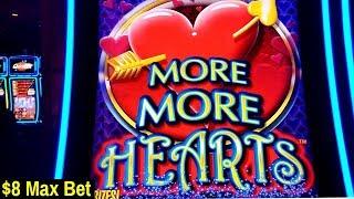 More More Hearts Slot $8 Max Bet Bonus | Miss Kitty & Buffalo Gold Slot Machines Bonuses Won