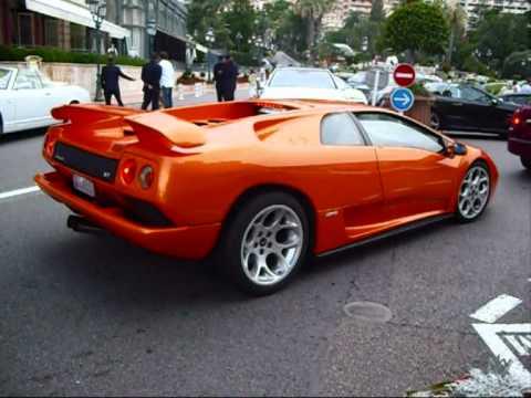 Orange Lamborghini Diablo Vt Sound In Monaco Youtube