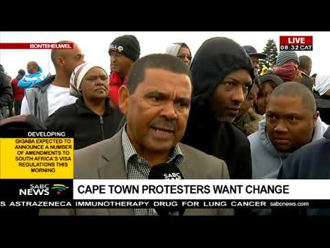 Total Cape Town shutdown protest continues