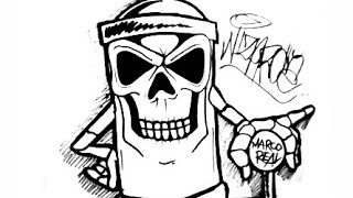 Drawing a skull spraycan characters by CHOLOWIZ