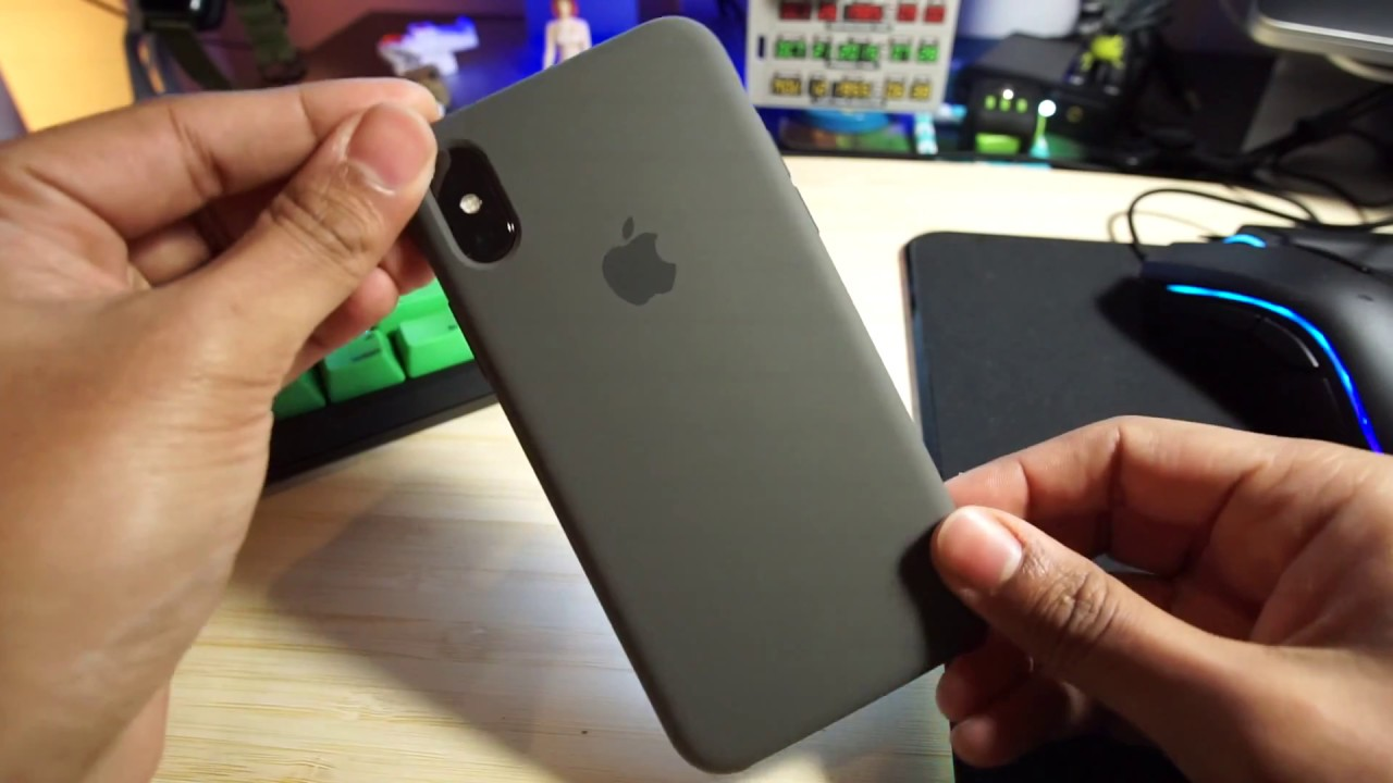 info for 13749 c6523 iPhone X Silicone Case | Dark Olive