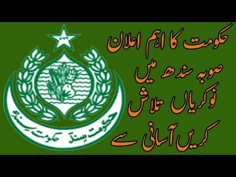 Sindh Government Announced Website for Job www.sindhrozgar.gos.pk/