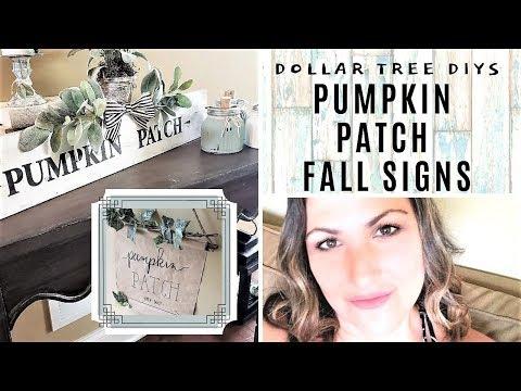 DOLLAR TREE FALL SIGNS DIY - Pumpkin Patch Fall Signs - Fall Wood Signs