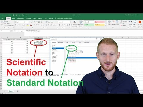 Changing Scientific Notation to Standard Notation in Excel