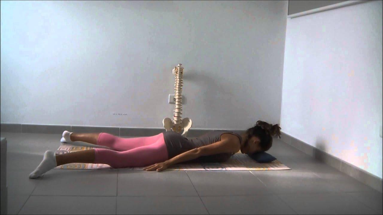 Ginnastica posturale: rinforzo muscoli estensori della schiena youtube