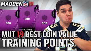 Best Coin Value for Training Points | Madden 19