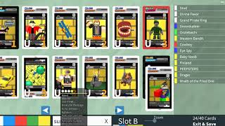 Roblox - Blox Cards - France Compte débutant - Construction d'un deck