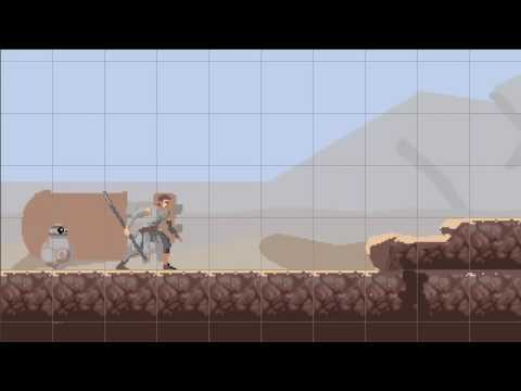 Star Wars The Force Awakens Pixel Art Video Game Mockup Narrated - EN - US