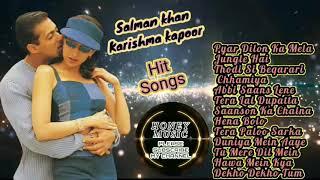 Romantic Hindi Songs   Salman Khan Hit Songs   Karishma Kapoor Hit Songs