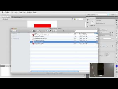 Flash CS5.5: Simple iOS App - Deploying to a device
